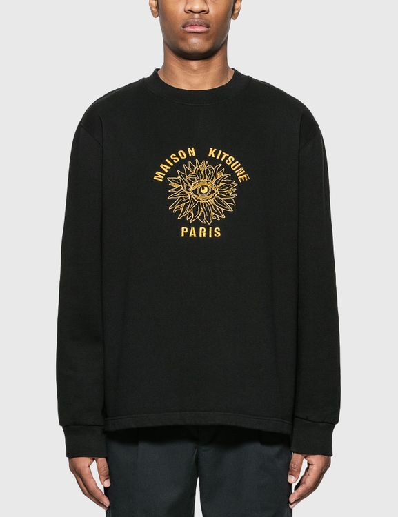 MAISON KITSUNE Big Eye Flower Embroidery Sweatshirt