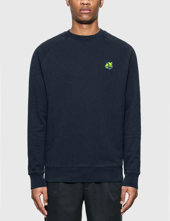 MAISON KITSUNE Neon Fox Patch Clean Sweatshirt