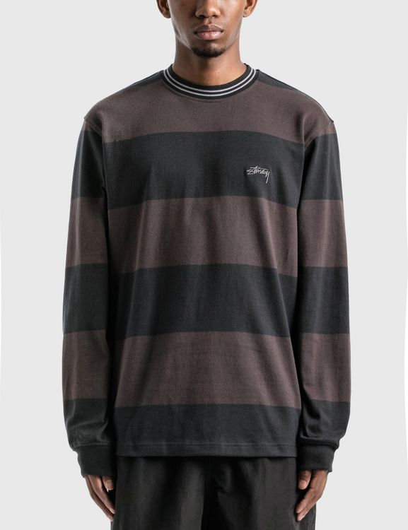 Stussy Moore Stripe Long Sleeve Crew T-Shirt