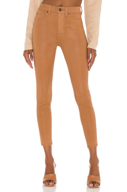 7 for all mankind The High Waist Ankle Skinny With Faux Pockets