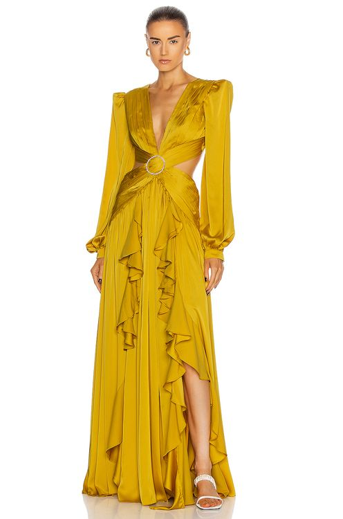 PatBo Cutout Gown With Embellished Buckle Dress