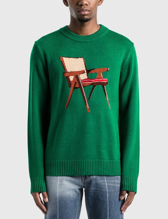 Casablanca The Art Of Sitting Knitted Sweater