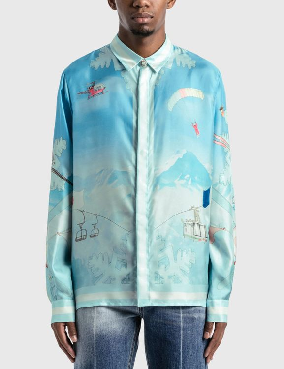 Casablanca Silk Twill  Ski Club Shirt