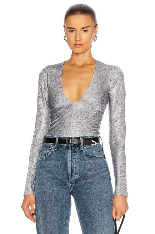 ALIX NYC Irving Metallic Bodysuit