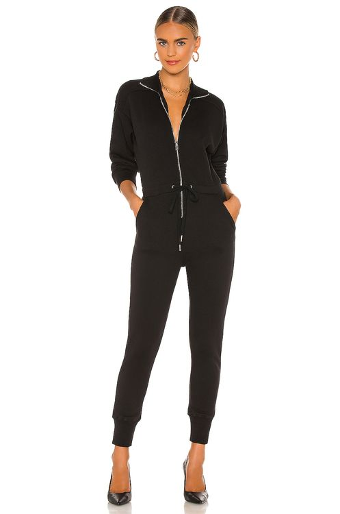 Marissa Webb Red Eye French Terry Zip Front Jumpsuit