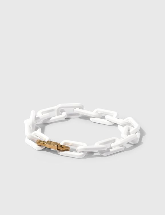 Off-White Acetate Gold Chain Necklace