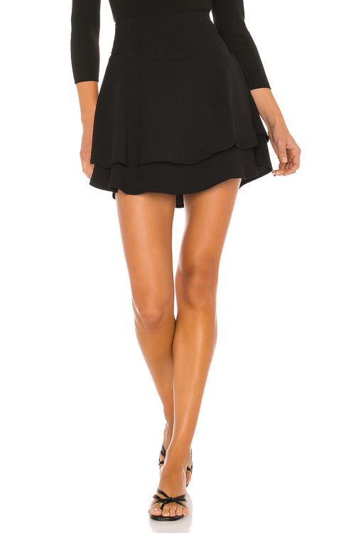 1. STATE Tiered Mini Skirt