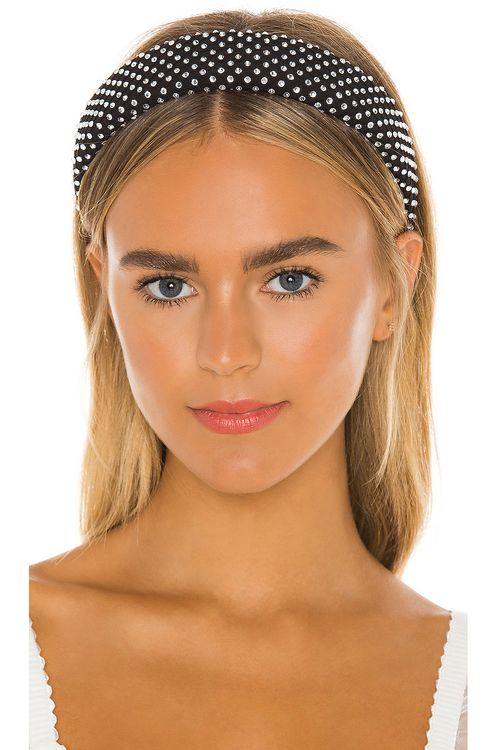Lele Sadoughi Crystal Dot Alice Headband