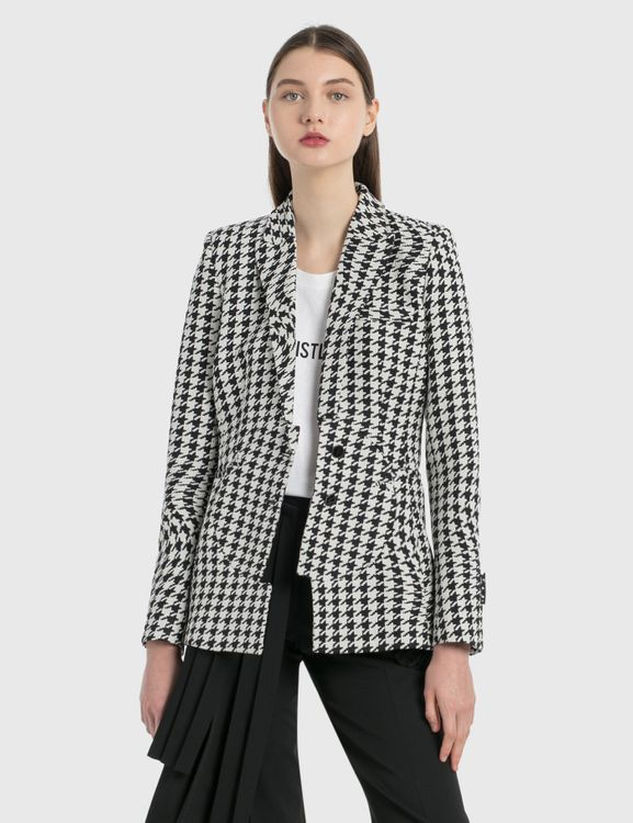 Off-White Houndstooth Circle Fit Jacket