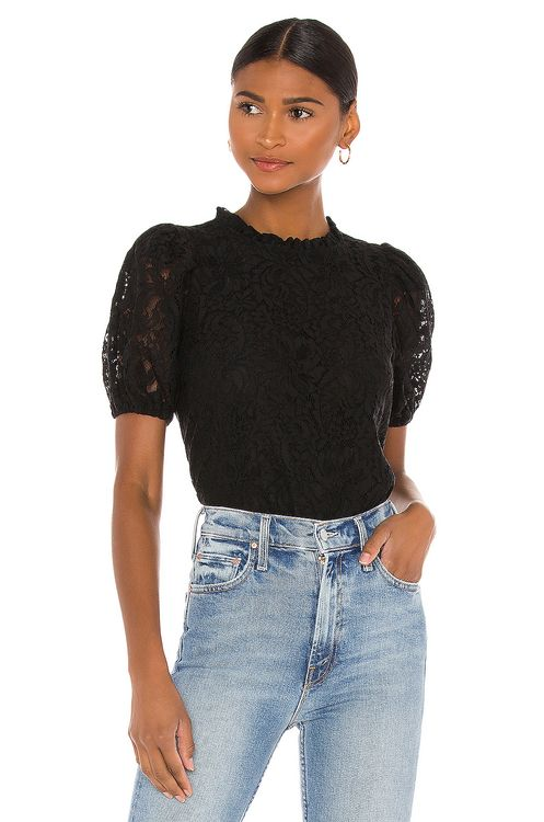 1. STATE Puff Lace Top