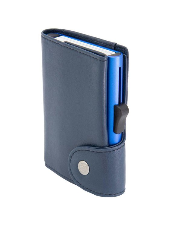C-Secure C-Secure XL Italian Leather Wallet RFID Cobalto Blue