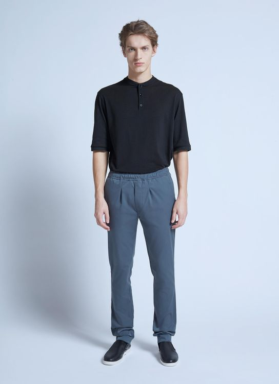harlan + holden Slim Pants Fleet - Blue Grey