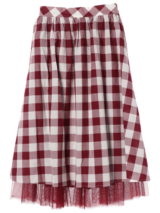 Earth, Music & Ecology Peck Skirt - Red