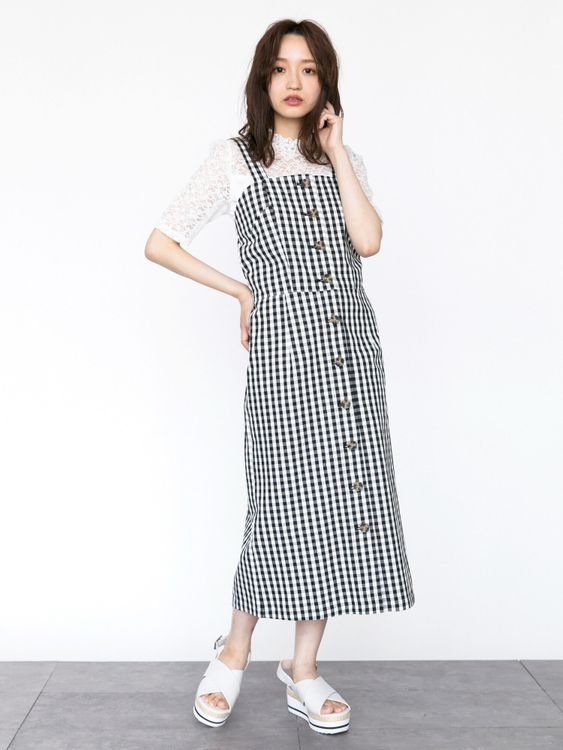 Earth, Music & Ecology Chiharu Dress - Gingham Check