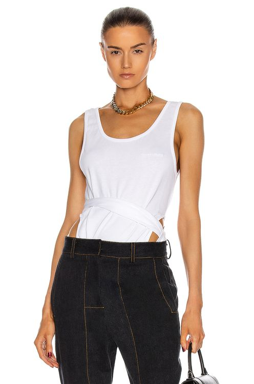 Y PROJECT Sleeveless Wrap Tank Top