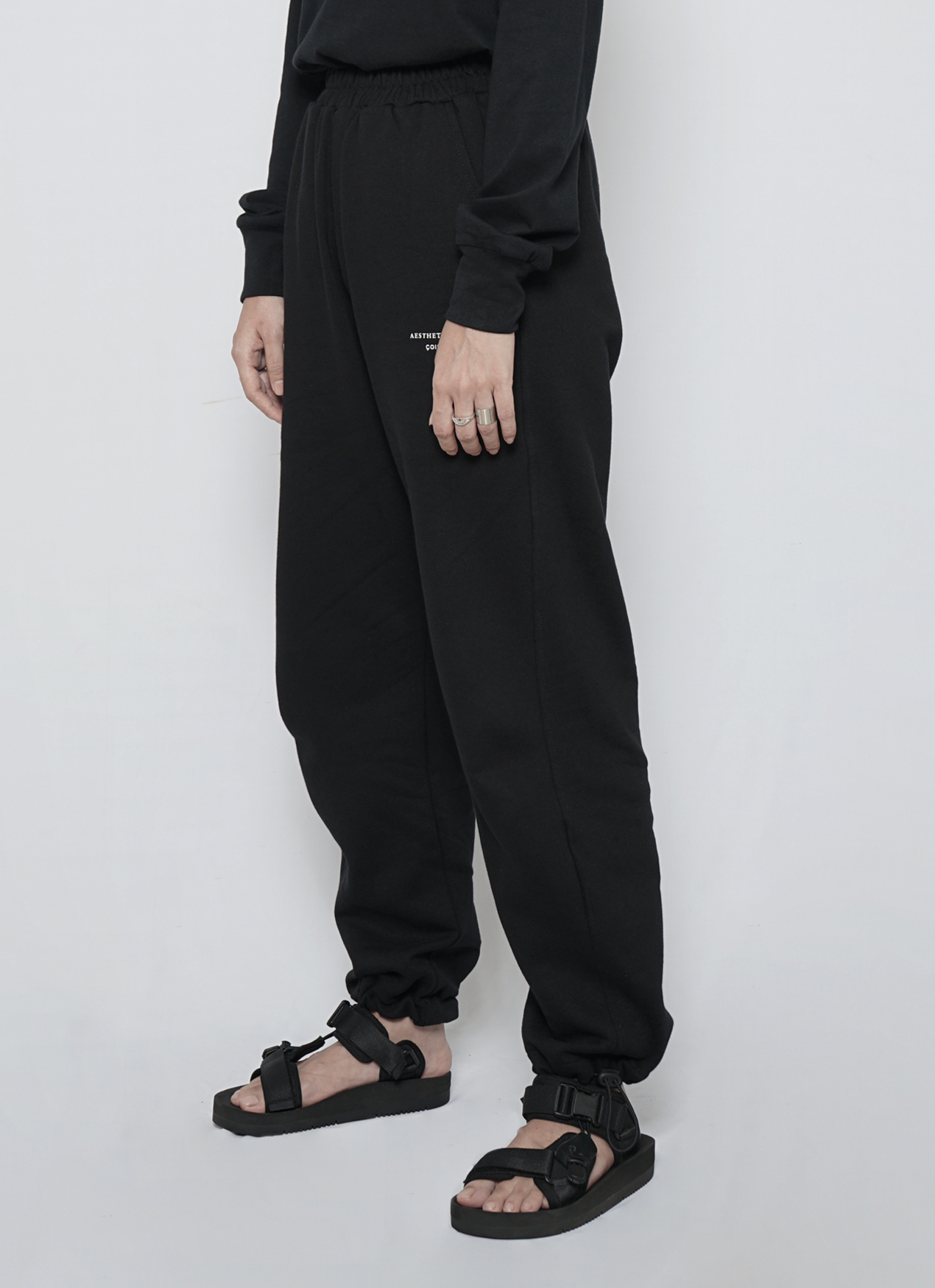 Aesthetic Pleasure Coise Sweat Pants Black