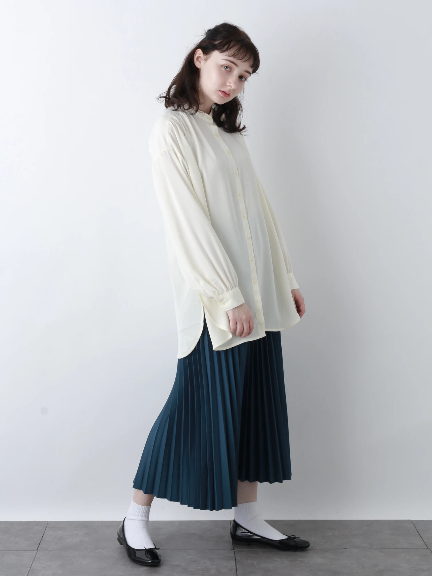 Earth, Music & Ecology Aysen Pleated Skirt - Blue Green