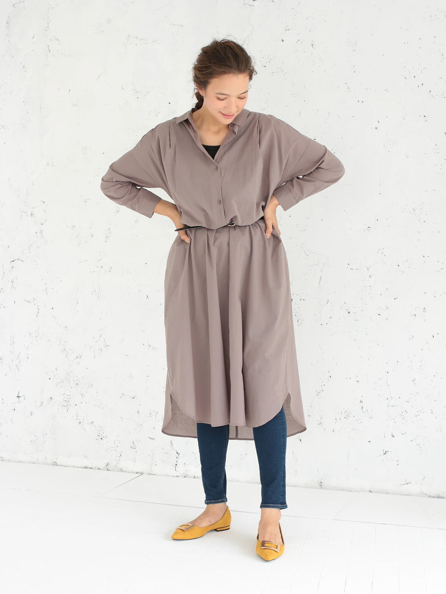 Earth, Music & Ecology Kaneesha Dress - Gray Beige