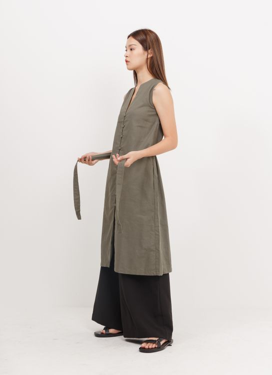 BOWN Cindy Dress - Army Green