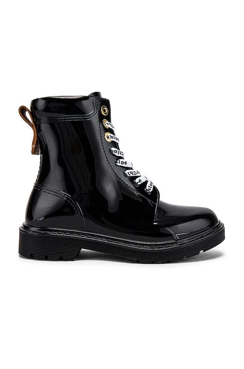 See By Chloé Florrie Lace Up Rain Boots