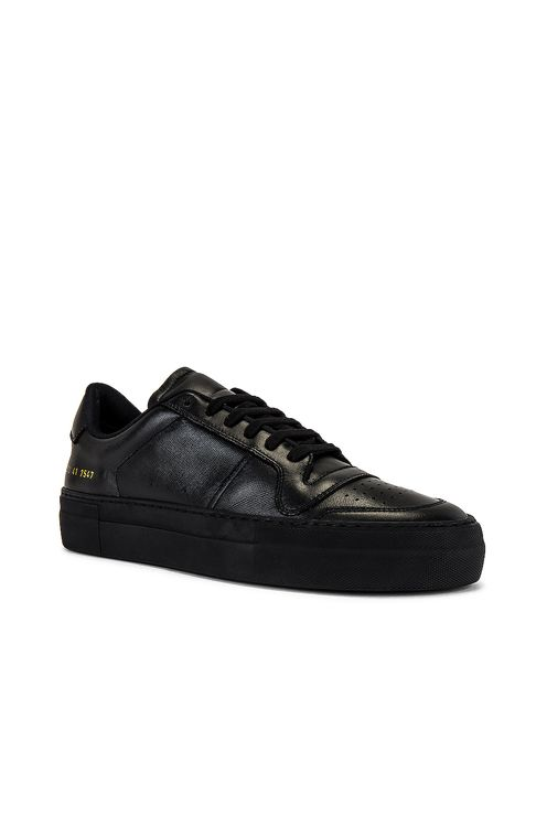 Common Projects Full Court Saffiano Low Top Sneaker