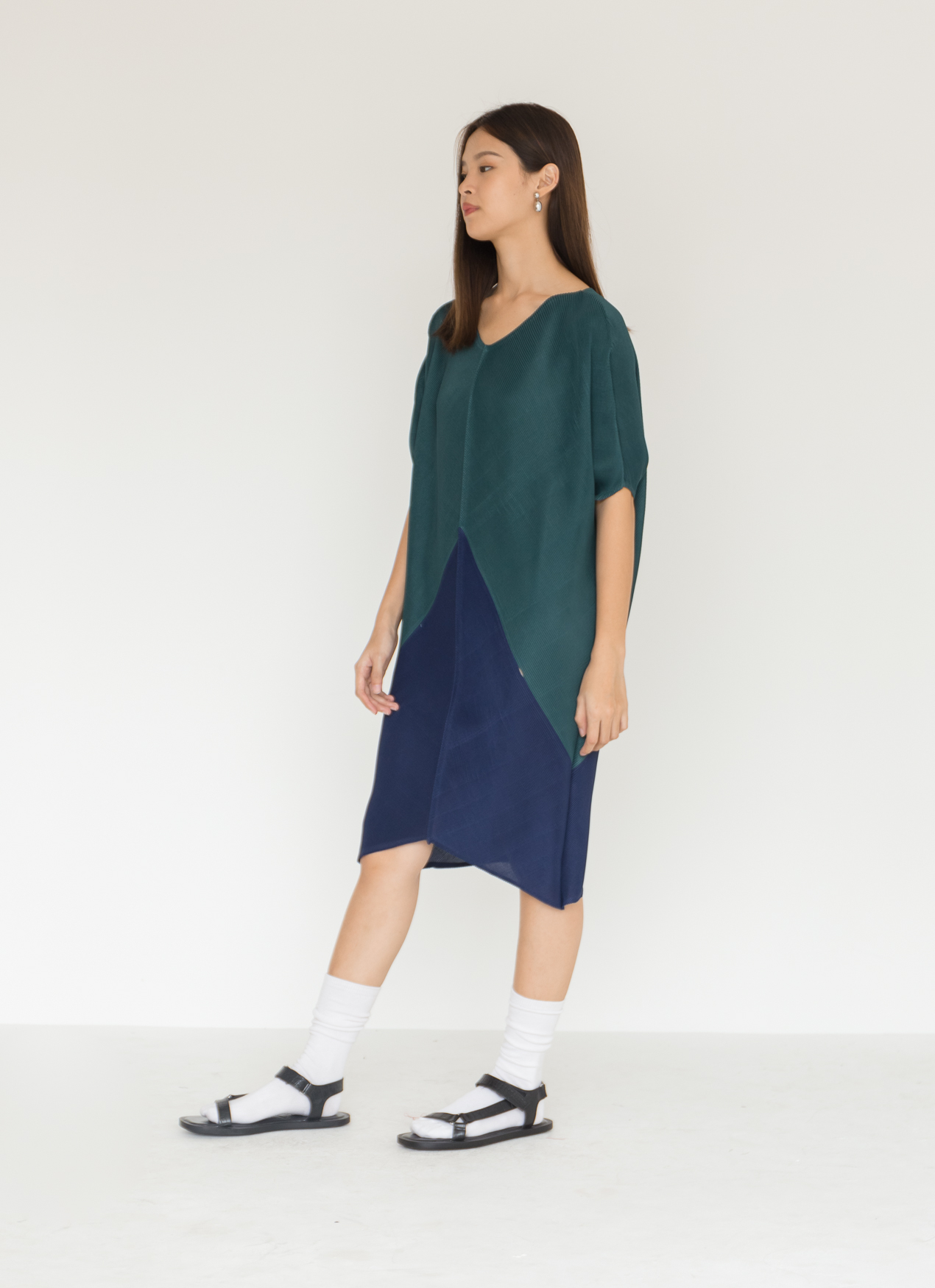 BOWN Esme Dress  - Green & Blue
