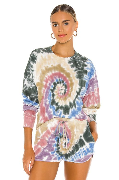 DAYDREAMER Autumn Tie Dye Thermal Long Sleeve