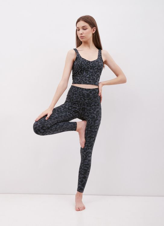 URBN ATHLETICA Free To Be Pocket Legging in Blue Leopard