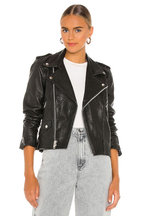 Understated Leather Cropped Slick Jacket