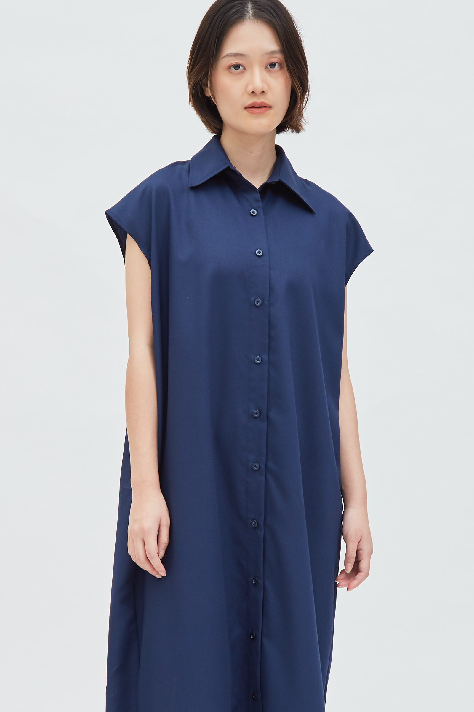 Shopatvelvet Bo Shirt Dress Navy