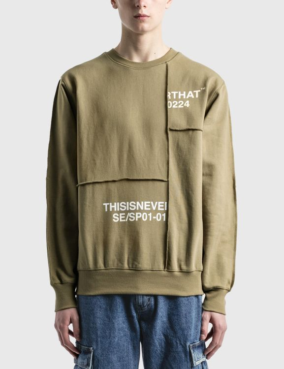 thisisneverthat Cut & Sew Panel Crewneck