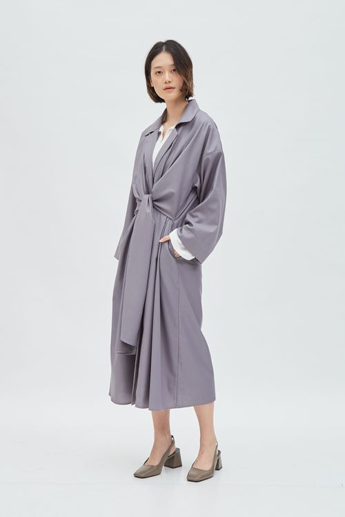 Shopatvelvet Sienna Coat Gray