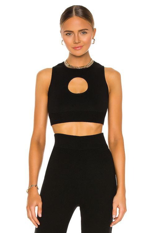 Victor Glemaud Colorblock Cut Out Halter Top