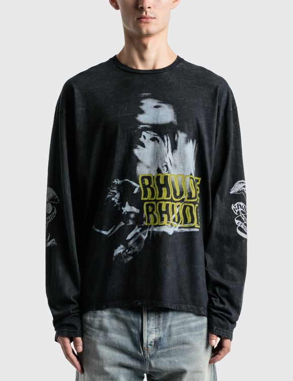 Rhude Face Graphic Long Sleeve T-Shirt
