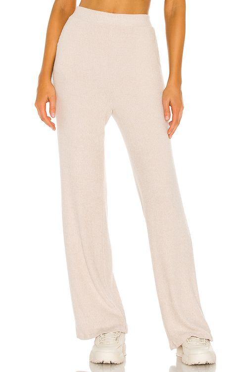 LBLC The Label Erin Wide Leg Ribbed Cozy Pant