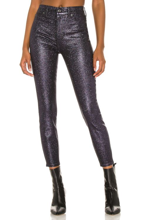 7 for all mankind High Waist Ankle Skinny Faux Pocket