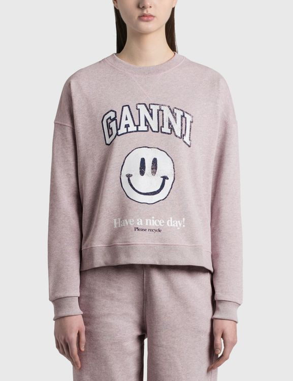 Ganni Isoli Smiley Sweatshirt