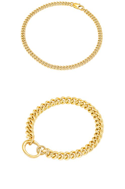 Laura Lombardi for FWRD Presa and Curb Chain Anklet