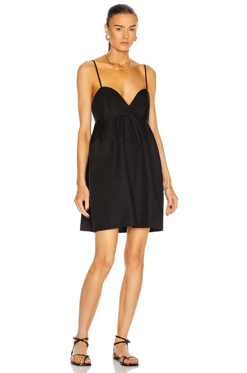 MATTHEW BRUCH Sweet Heart Poplin Mini Dress