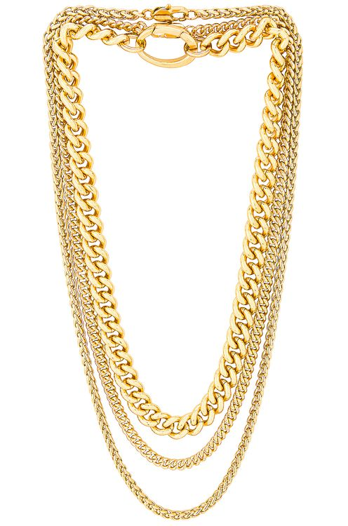 Laura Lombardi for FWRD Presa, Curb, and Wheat Chain Necklace Set