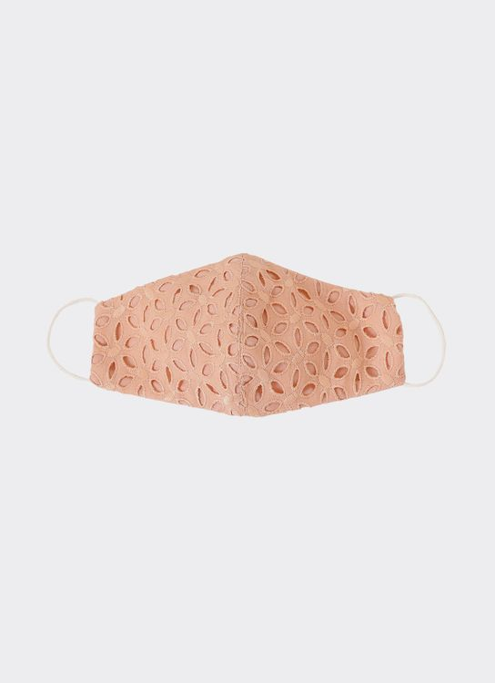 CDC The Label Cotton Eyelet Mask - Peach