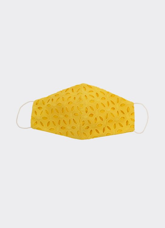 CDC The Label Cotton Eyelet Mask - Yellow