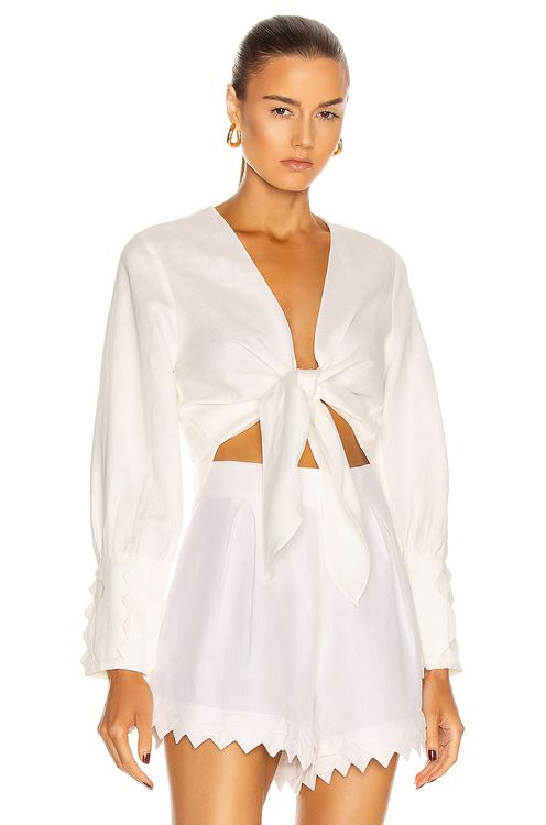 Adriana Degreas Linen Shirt With Application