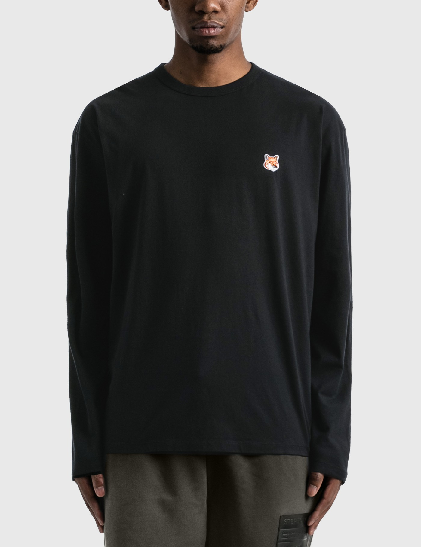 MAISON KITSUNE Fox Head Patch Long Sleeve T-shirt