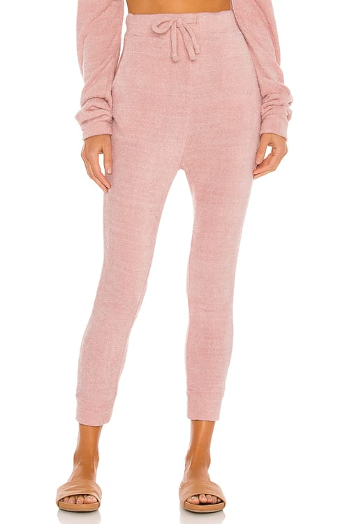 Mina Lisa Feather Knit Jogger