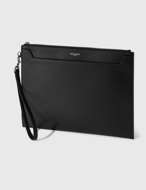 Saint Laurent Smooth Leather Pouch