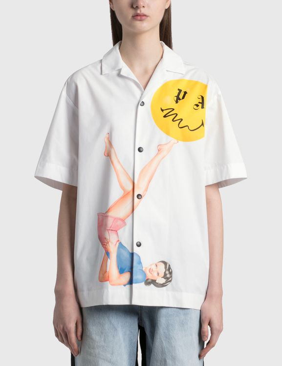 Palm Angels Juggler Pin Up Bowling Shirt