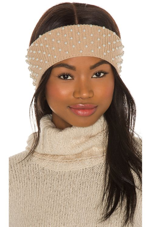 Lele Sadoughi Knit Pearl Ear Warmer