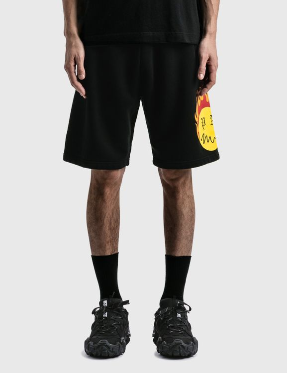 Palm Angels Burning Head Sweat Shorts