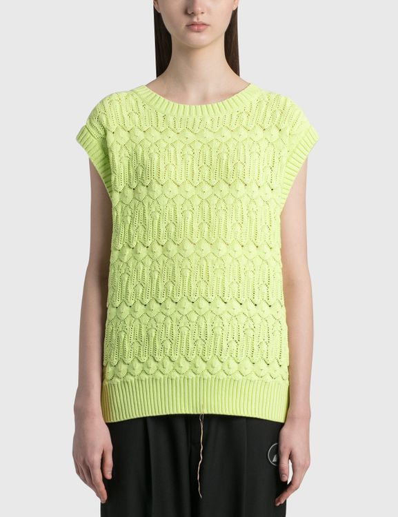 We11done Lace Knit Round Neck Vest